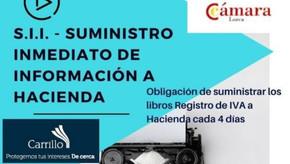 Suministro Inmediato de Información a Hacienda (S.I.I.) – Cámara Lorca