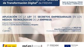28 DE MAYO – CHARLA APLICACIÓN DE LA LEY DE SECRETOS EMPRESARIALES EN LOS MEDIOS TECNOLÓGICOS