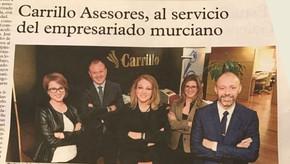 Reportaje sobre Carrillo Asesores en La Verdad