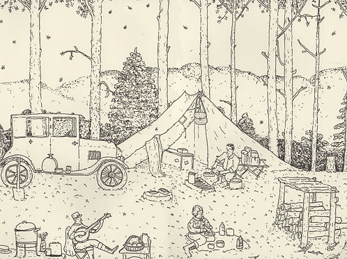 Camping 1929_ Signed Print - Ltd Edition