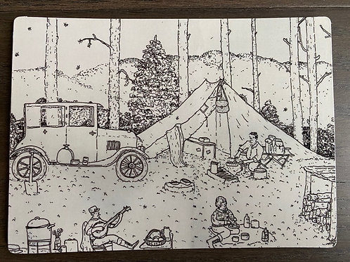 Camping - Magnet
