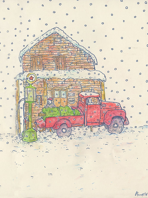 The Red Truck_ Signed Print - Ltd Edition