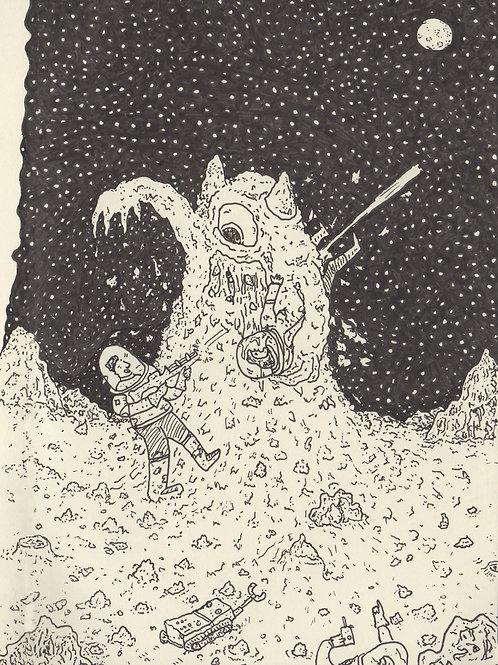 Moon Monster_ Signed Print - Ltd Edition