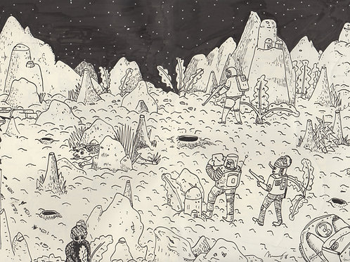Space Rescue #3_ Signed Print - Ltd Edition