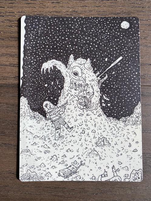 Sci-Fi Moon Monster - Magnet