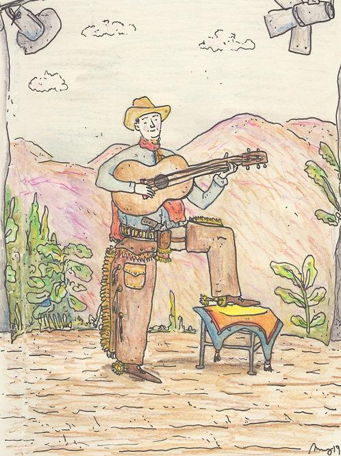 The Cowboy Singer_ Signed Print - Ltd Edition
