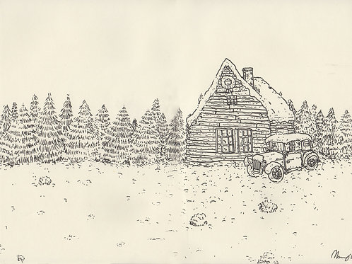 Christmas Cabin_ Signed Print - Ltd Edition