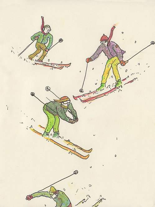 Skiers_ Signed Print - Ltd Edition