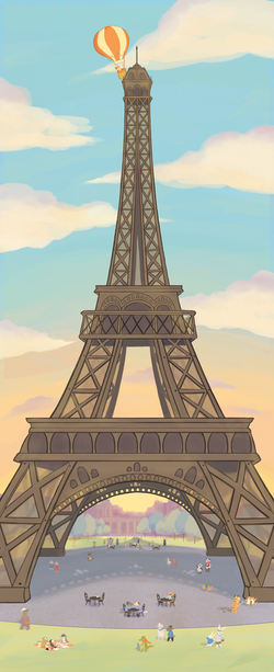 KeeKee lands on the Eiffel Tower