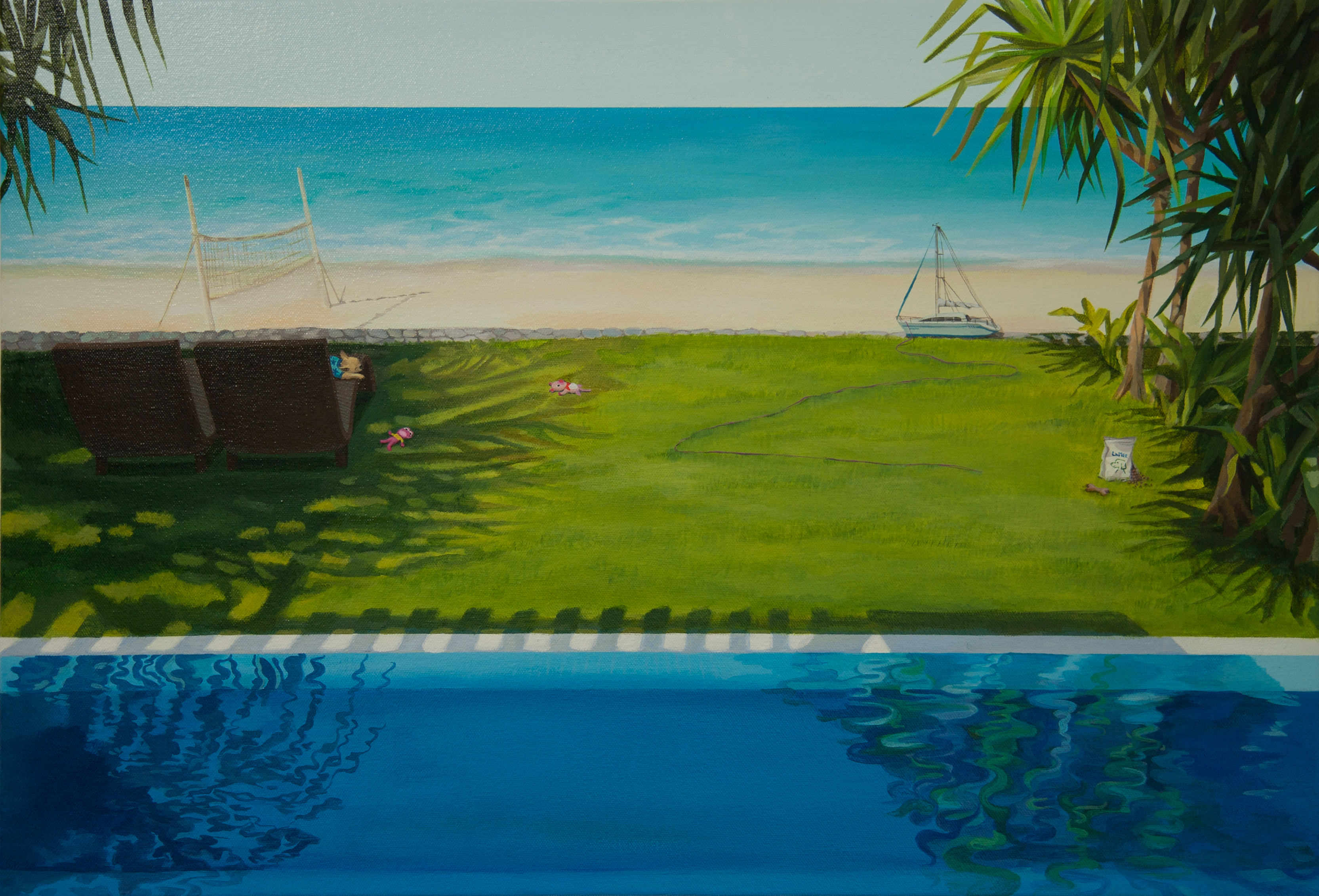 la mer,2010, acrylic on canvas,72.7x50.0cm