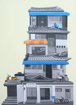 풍년식품_116.8 x 80.3cm,2009, Acrylic on