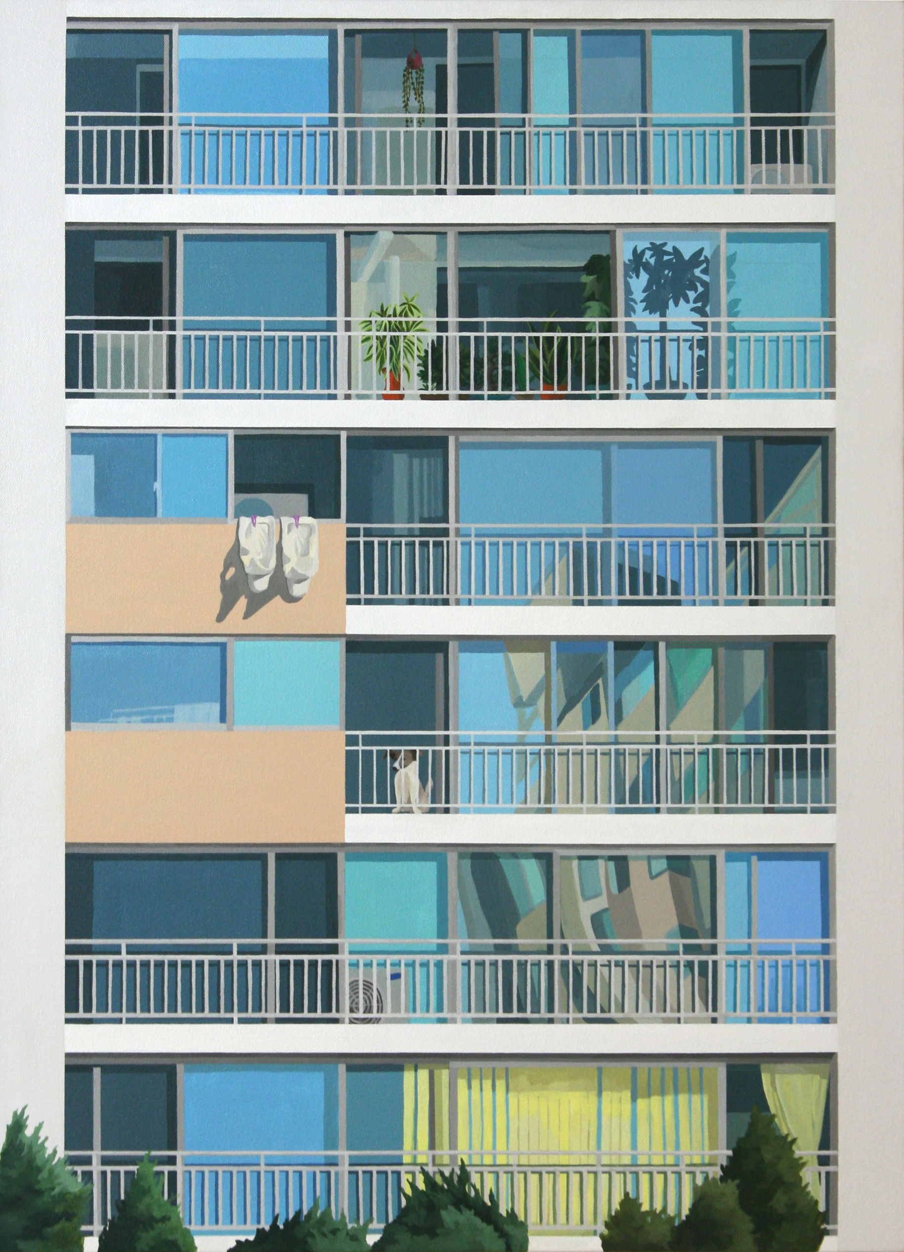 space apartment, 2007, acrylic on canvas, 90.9x72