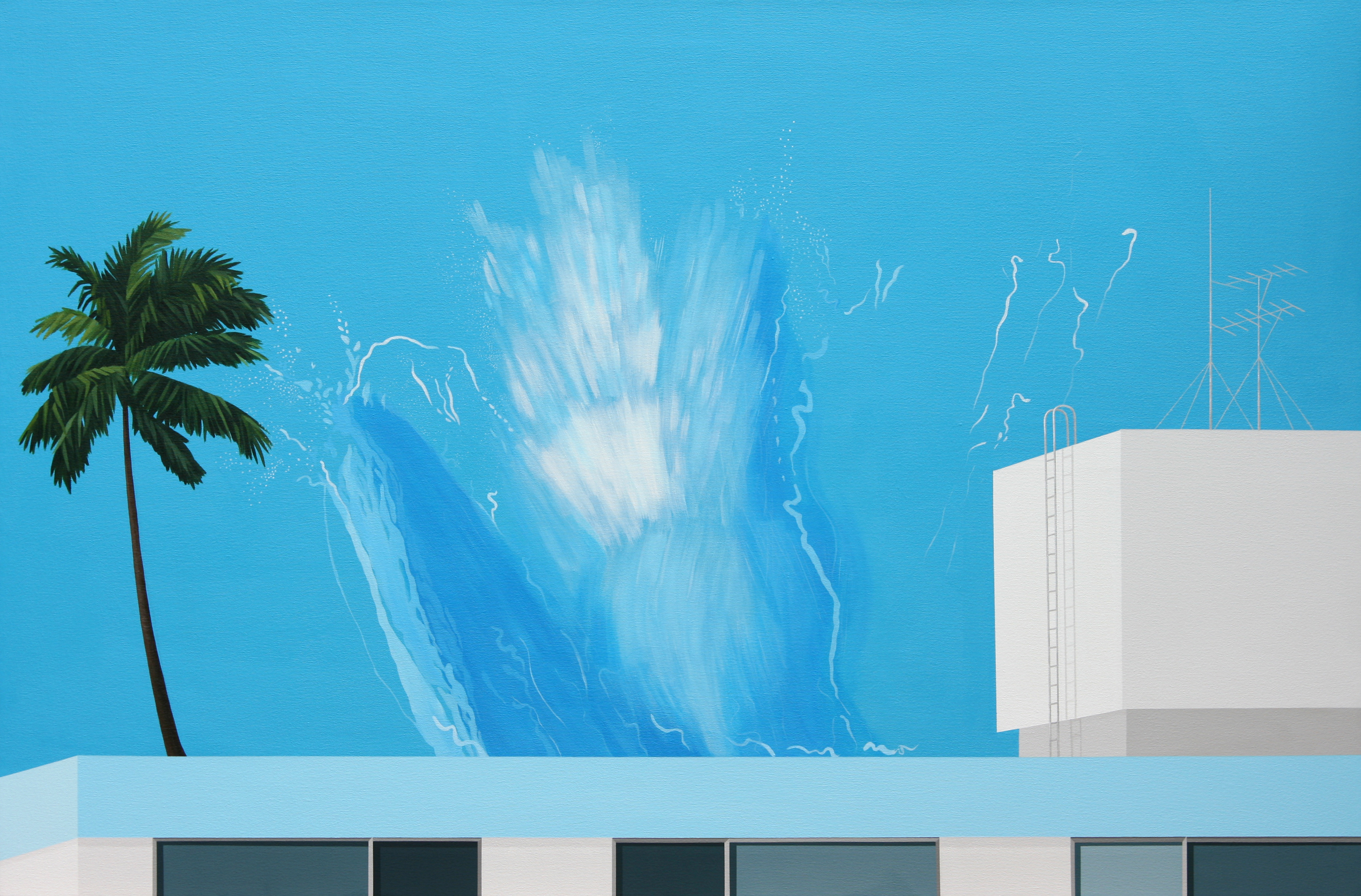 Hockney의 착륙,2008,acrylic on canvas,145.5x97.0cm