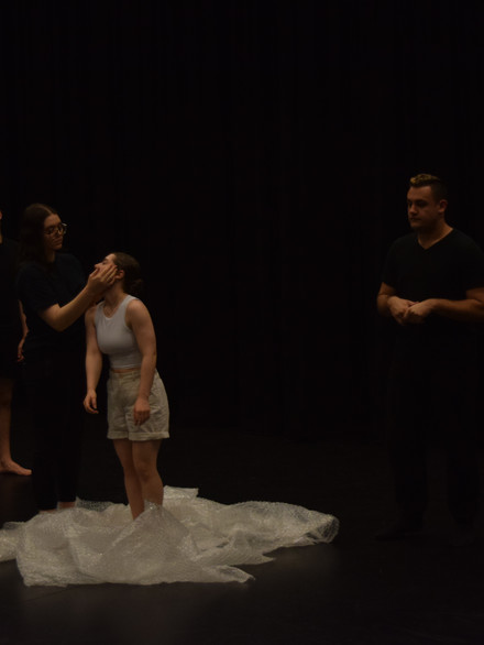 Performers Rehearsing Before Filming