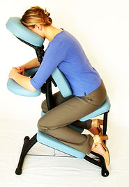 Licensed Massage Therapist Ruba Chair Massage seated corporate Plano Frisco Allen McKinney 75024