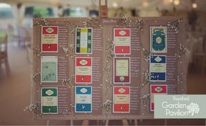 9 Cute & Creative Ways To Display Your Wedding Table Plan
