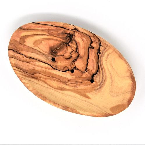 Olive Wood Boat Style Soap Dish