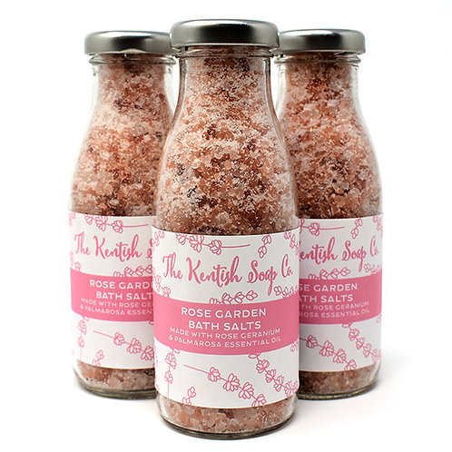 Rose Garden Bath Salts Bottle