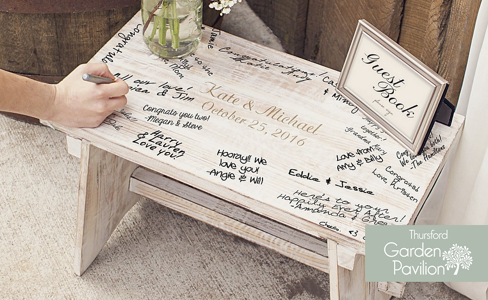 Unique Wedding Guest Book ideas Thursford