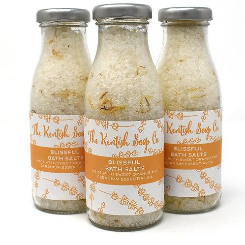 Blissful Bath Salts Bottle