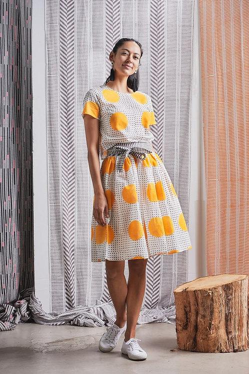 Mittee Skirt + Top Combination with OBI Belt