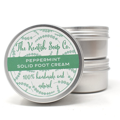 Peppermint Solid Foot Cream Bar