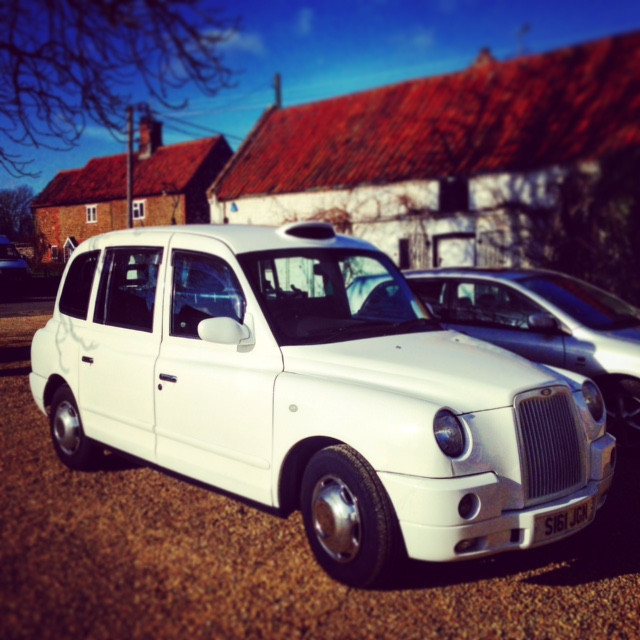 I bought the bestest, maddest and most unorthodoxest family car I could buy. A white black cab. Yup.