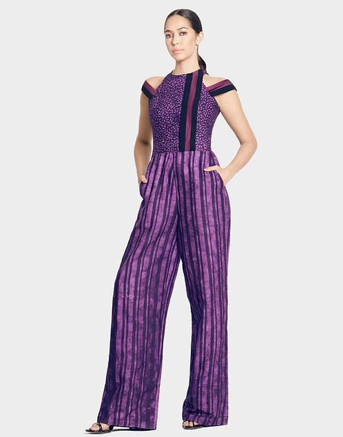 Purple Batik Jumpsuit