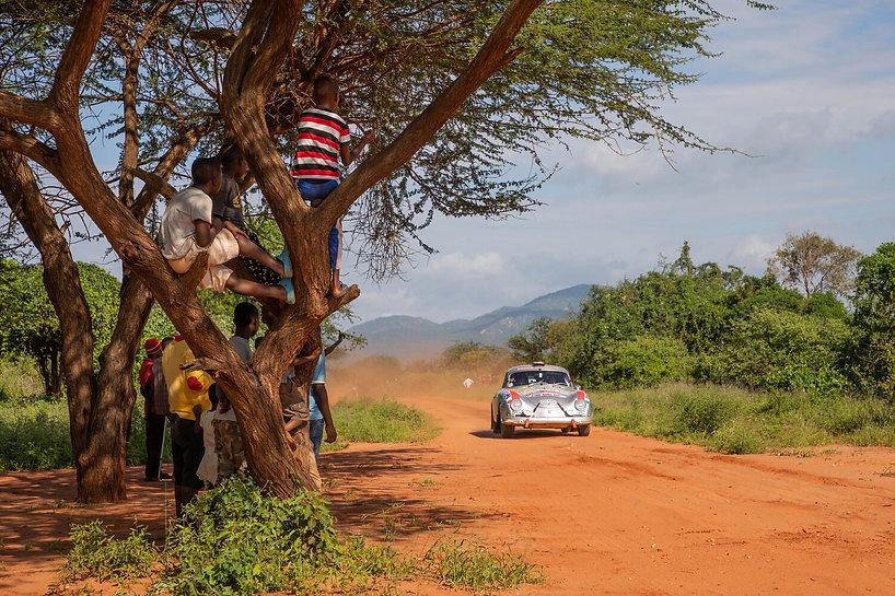 Classic Porsche 356 Rally Racing across African Plains