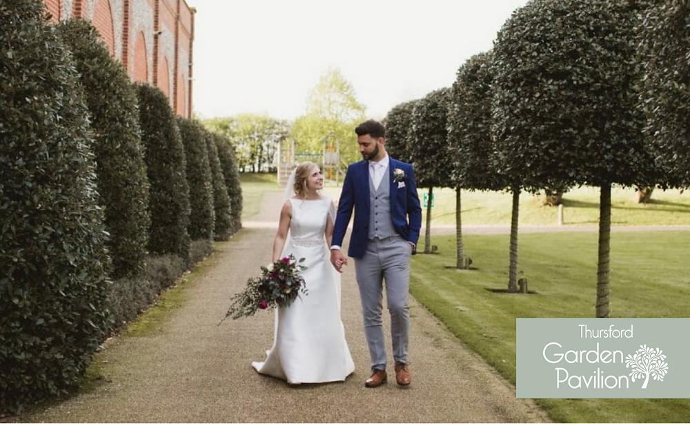 Thursford garden pavilion real wedding
