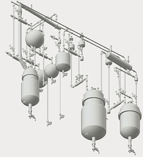 Реактор стеклянный Ready, реактор стеклянный 20 литров, реактор секлянный 5 литров, химические реакторы из стекла, лабораторный реактор