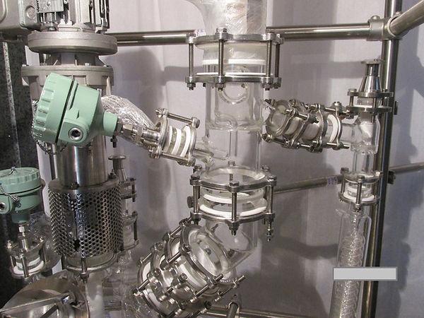 Флегмоделитель стеклянный, дивайдер из стекла, делитель флегмы лабораторного реактора из стекла ABLAZE