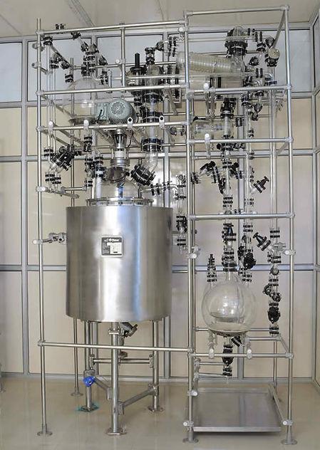 Стеклянные реакторы большого объема Ablaze Аблейз Эблэйз 200 литров, химические реакторы из стекла 400 литров симакс simax