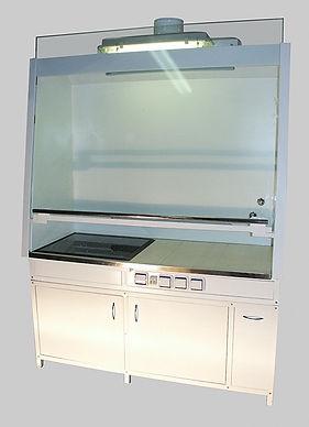 Шкаф вытяжной лабораторный с электронагревательной панелью, Вытяжные шкафы, вытяжной шкаф, вытяжка, лабораторный вытяжной шкаф, лабораторная мебель ЛаМО