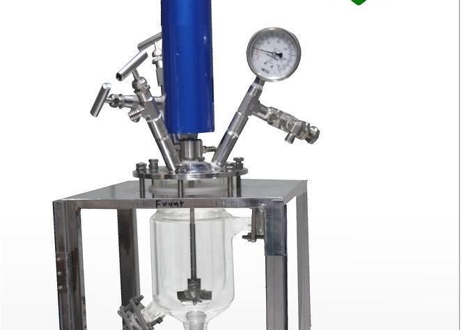 Стеклянные реакторы высокого давления, реакторы высокого давления из стекла, химический реактор из стекла 6 бар, реактор из стекла 6 атмосфер