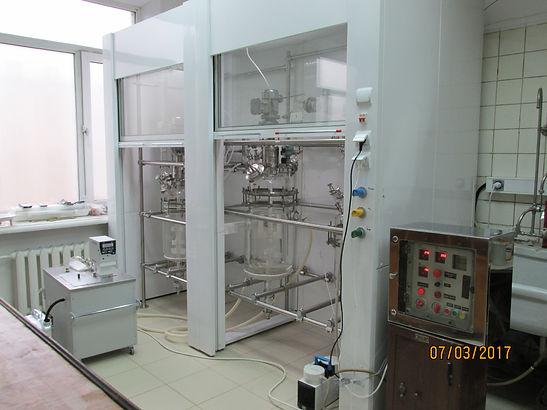 Реактор из стекла, реактор из стекла с подогревом и мешалкой, реактор стеклянный, реактор стеклянный 50 литров, реактор стеклянный 100 литров