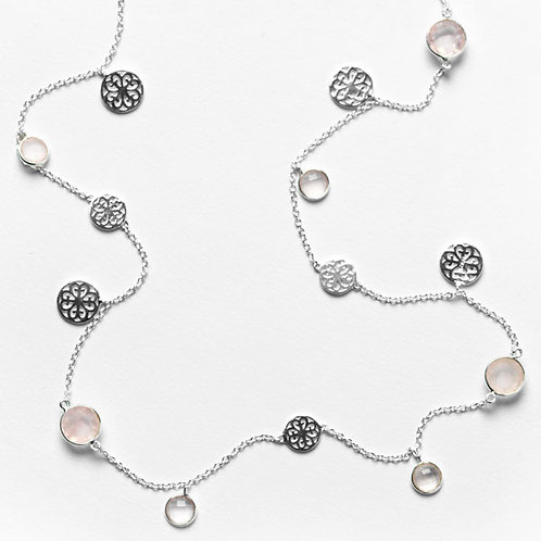 Southern Gates Inspiration Necklace With Rose Quartz