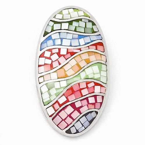 Sterling Silver Multi Color Mosaic MOP Pendant