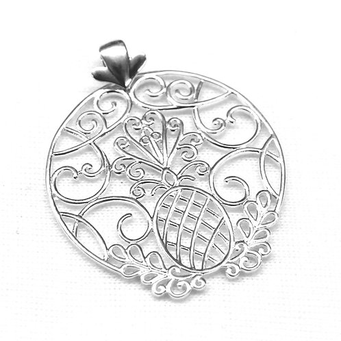 Southern Gates Low Country Pineapple Scroll Pendant