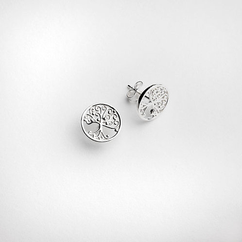 Southern Gates Southern Oak Tree Of Life Stud Earrings