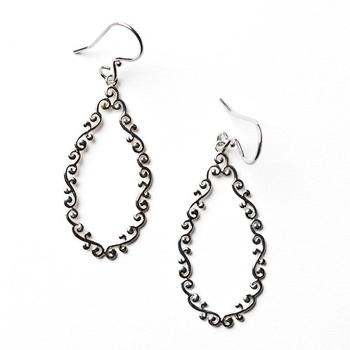 Southern Gates Courtyard Open Teardrop Earrings