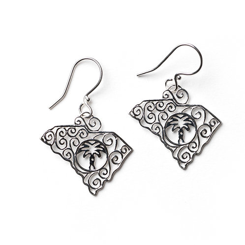 Southern Gates State South Carolina Earrings