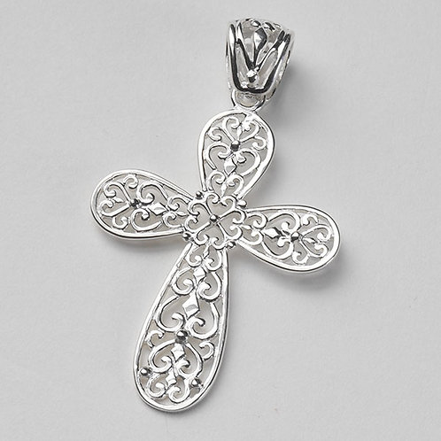 Southern Gates Inspiration Filigree Cross Pendant Small