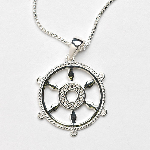 Southern Gates Ships Wheel Necklace