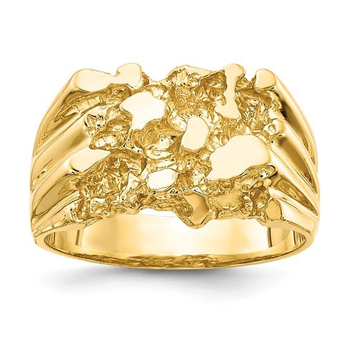14K Men's Nugget Ring