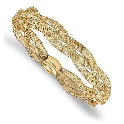 Leslie's 14k Fancy Stretch Bangle Bracelet