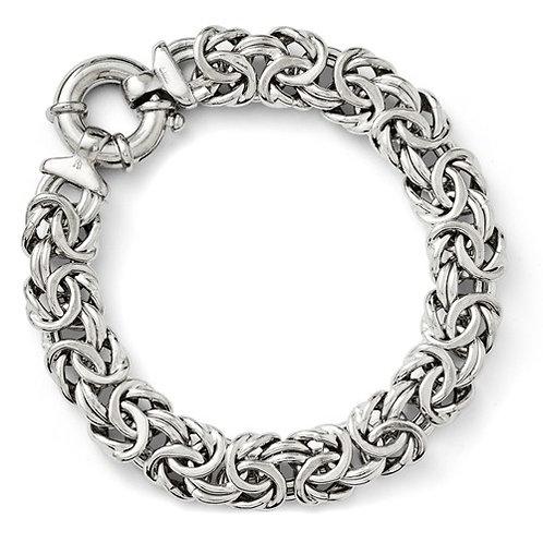 Leslie's Sterling Silver Fancy Link Bracelet