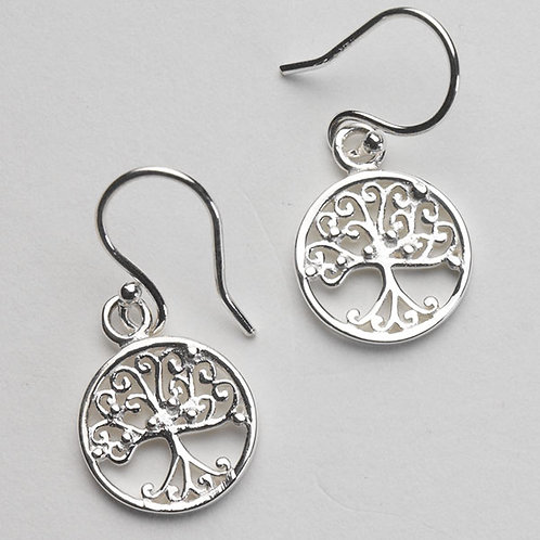 Southern Gates Southern Oak Tree Of Life Tiny Round Earrings