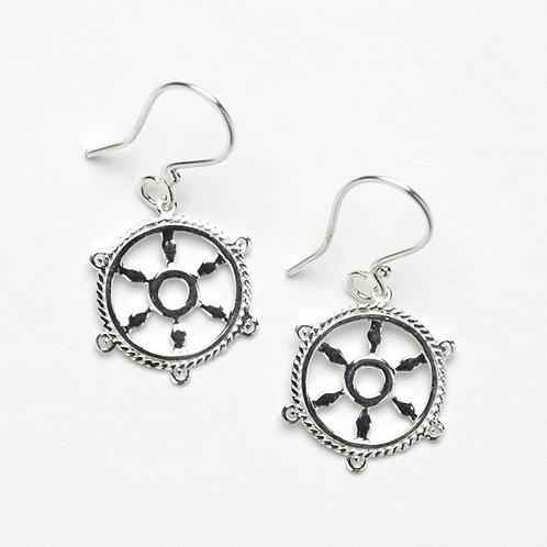 Southern Gates Ships Wheel Earrings
