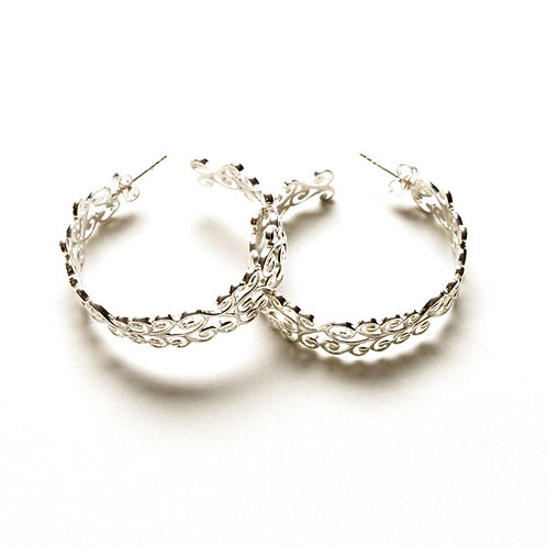 Southern Gates Courtyard Filigree Hoop Earrings